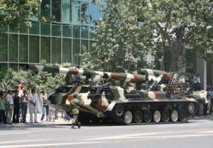 САУ «Пион», купленные в Беларуси и Украине – самые мощные в азербайджанской армии.