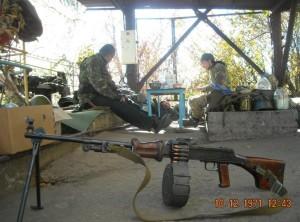 Ручной пулемет РПК-46 на вооружении у бойцов добровольческих подразделений Украины.