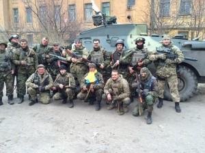 Украинское подразделение – хорошо виден расклад армейского вооружения.