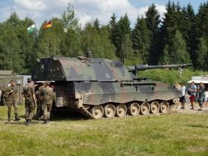 Початкова швидкість випущеного снаряда визначається за допомогою спеціального датчика-радара і використовується для обчислення даних для стрільби