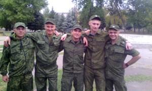 Кадровые российские военные, г.Комсомольское Донецкой области, осень 201 5 г.