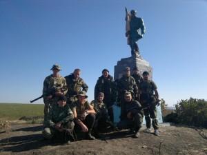 Кадровые российские военные в Шахтерском районе, лето 2014 г.