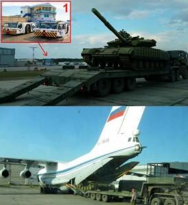 Погрузка Т-64БВ в Ан-124 и Ил-76 в «Емельяново»