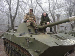 САУ «Нона» из состава НВФ, зима 2014-15 гг.