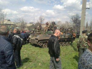 Попытки блокирования под Краматорском колонны 25-й бригады, апрель 2014 г.